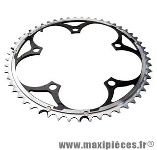 Plateau 52 dents route diamètre 135 extérieur noir 9/10v. marque Miche - Pièce Vélo