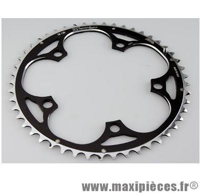 Plateau 46 dents route diamètre 130 extérieur noir 10/9v. marque Miche - Pièce Vélo
