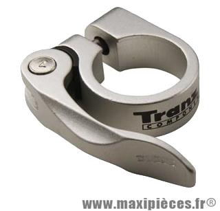Collier tige de selle VTT/VTC d28.6 mm argent alu + serrage rapide - Accessoire Vélo Pas Cher