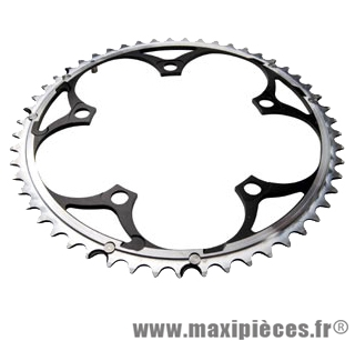 Plateau 42 dents route diamètre 135 intérieur noir 9/10v. marque Miche - Pièce Vélo