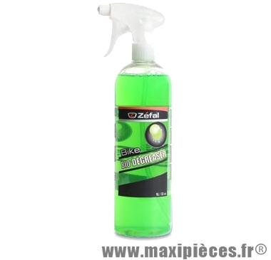 Nettoyant/dégraissant chaine et dérailleur bio degreaser (pulvérisateur 1 litre) marque Zéfal - Matériel pour Cycle
