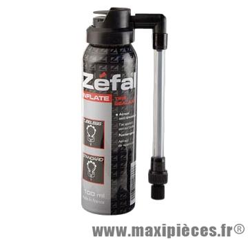 Bombe anti-crevaison vélo 100ml (raccord flexible) marque Zéfal - Matériel pour Cycle