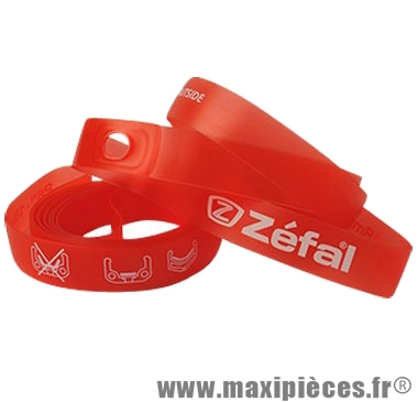Fond de jante VTT 26x18 roug e souple (blister de 2) marque Zéfal - Matériel pour Cycle