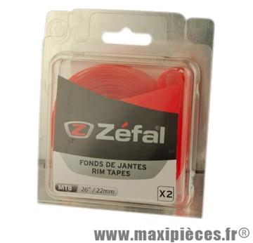 Fond de jante VTT 26x22 rouge souple (blister de 2) marque Zéfal - Matériel pour Cycle