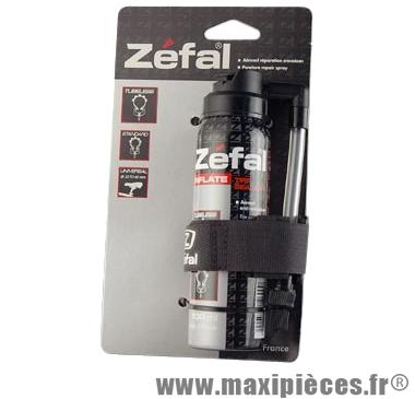 Bombe anti-crevaison vélo 100ml avec fixation cadre (raccord flexible) marque Zéfal - Matériel pour Cycle
