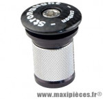 Bouchon potence ahead-set 1 pouce 1/8 expandeur long noir (pour pivot carbone) marque Stronglight - Pièce Vélo