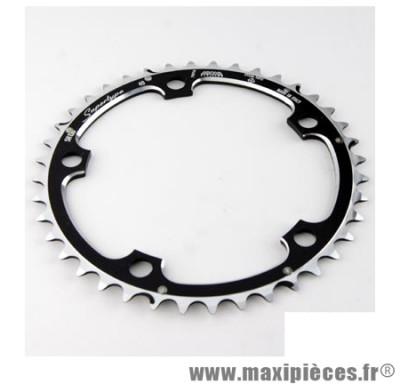 Plateau 42 dents route diamètre 130 interm noir 10/9v. marque Miche - Pièce Vélo