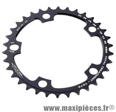 Plateau 34 dents route diamètre 110 intérieur noir (comp. Shimano + campa ultra torque) 10/9v. marque Miche - Pièce Vélo