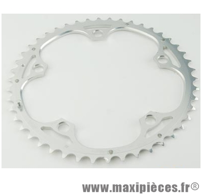 Plateau 48 dents route diamètre 135 extérieur argent 9/10v. marque Miche - Pièce Vélo