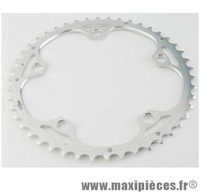 Plateau 51 dents route diamètre 135 extérieur argent 9/10v. marque Miche - Pièce Vélo