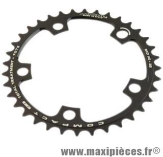 Plateau 36 dents route diamètre 110 intérieur noir (comp. Shimano + campa ultra torque) 10/9v. marque Miche - Pièce Vélo