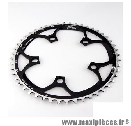Plateau 50 dents route diamètre 110 extérieur noir (comp. Shimano + campa ultra torque) 10/9v. marque Miche - Pièce Vélo