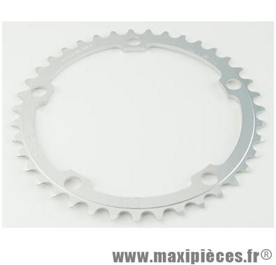 Plateau 50 dents route diamètre 135 extérieur argent dural marque Stronglight - Pièce Vélo