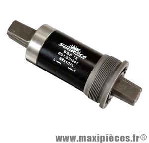 Boitier pédalier carre l107 alu f.bsc (cuvettes alu) marque Sunrace - Matériel pour Vélo