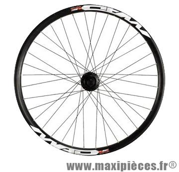 Roue VTT/dh 26 pouces avant axe 20 mm disc jante noire dh30 mx moy. shim. 475 double paroi - Accessoire Vélo Pas Cher