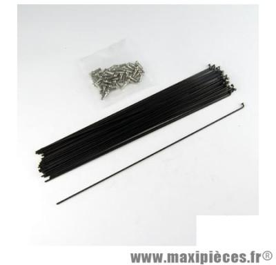Rayon 2mm inox noir l298 avec écrou(x1) marque Mach1 - Matériel pour Cycle