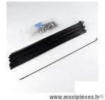 Rayon 2mm inox noir l263 avec écrou(x1) marque Mach1 - Matériel pour Cycle *Prix spécial !