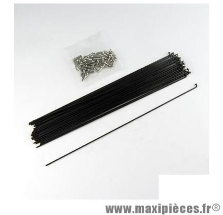 Rayon 2mm inox noir l256 avec écrou(x1) marque Mach1 - Matériel pour Cycle