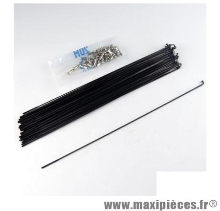 Rayon 2mm inox noir l263 avec écrou(x1) marque Mach1 - Matériel pour Cycle