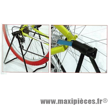Support vélo snappy alu noir fixation sur blocage roue arrière 12-29 pouces - Accessoire Vélo Pas Cher