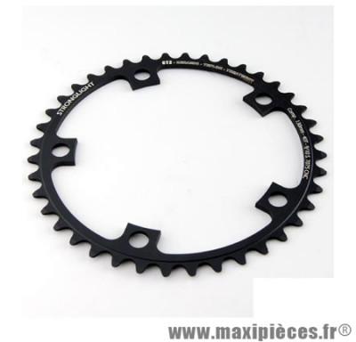 Plateau 39 dents route diamètre 130 intérieur noir ct2 téflon ceramic 11/10v. marque Stronglight - Pièce Vélo