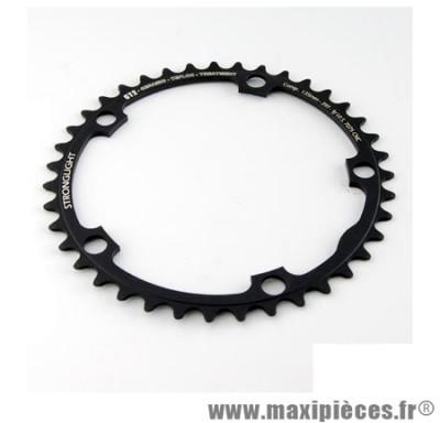 Plateau 42 dents route diamètre 135 intérieur noir ct2 téflon ceramic ultra torque marque Stronglight - Pièce Vélo