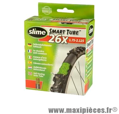 Chambre à air de VTT 26x1.75/2.125 vs avec liquide slime anti-crevaison - Accessoire Vélo Pas Cher