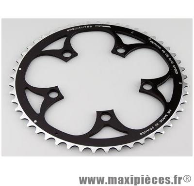 Plateau 52 dents route diamètre 110 extérieur noir zephyr (comp. Shimano) marque Spécialités TA - Matériel pour Vélo