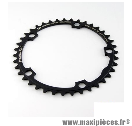 Plateau 39 dents route diamètre 135 intérieur noir ct2 téflon ceramic ultra torque marque Stronglight - Pièce Vélo