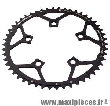 Plateau 50 dents route diamètre 110 extérieur noir ct2 téflon ceramic 11/10v. marque Stronglight - Pièce Vélo