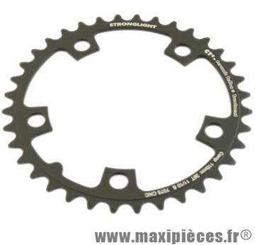 Plateau 36 dents route diamètre 110 intérieur noir ct2 téflon ceramic 11/10v. marque Stronglight - Pièce Vélo