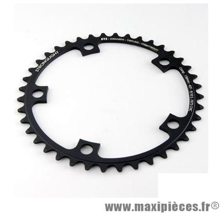Plateau 42 dents route diamètre 130 intérieur noir ct2 téflon ceramic 11/10v. marque Stronglight - Pièce Vélo