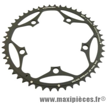 Plateau 50 dents route diamètre 130 extérieur noir ct2 téflon ceramic 11/10v. marque Stronglight - Pièce Vélo