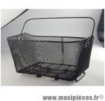 Panier arrière acier maille avec anse (fixation étau sur porte bagage) 40x30x20 - Accessoire Vélo Pas Cher