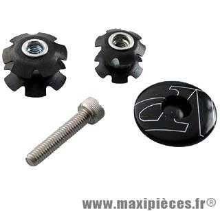 Bouchon potence ahead-set 1 pouce+1 pouce 1/8 noir (livre avec 2 étoiles) - Accessoire Vélo Pas Cher