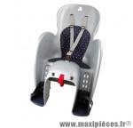 Porte bébé arrière sur porte bagage wallaroo gris coussin noir <22kgs marque Polisport - Pièce Vélo