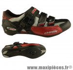 Chaussure route chain vuelta argent/rouge t41 (paire) - Accessoire Vélo Pas Cher pour cycliste
