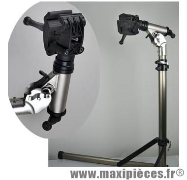 Pied d'atelier réparation vélo montage pliable multi réglage alu - Accessoire Vélo Pas Cher