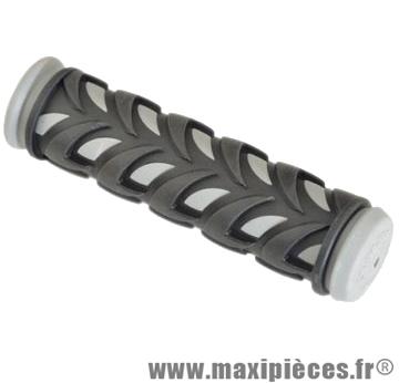 Poignée VTT gel caoutchouc noir/gris 125mm (paire) marque Atoo - Matériel pour Vélo