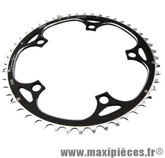 Plateau 49 dents route diamètre 135 extérieur noir 9/10v. marque Miche - Pièce Vélo