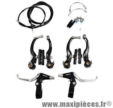 Etrier de frein VTT v-brake av+ar noir (leviers, étriers...) (coffret) - Accessoire Vélo Pas Cher