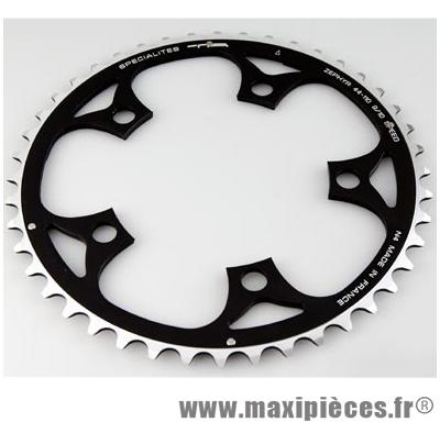 Plateau 44 dents route diamètre 110 interm noir zephyr (comp. Shimano) marque Spécialités TA - Matériel pour Vélo