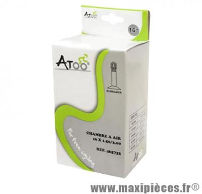 Chambre à air de VTT 16x1.75/2.00 vs marque Atoo - Matériel pour Vélo