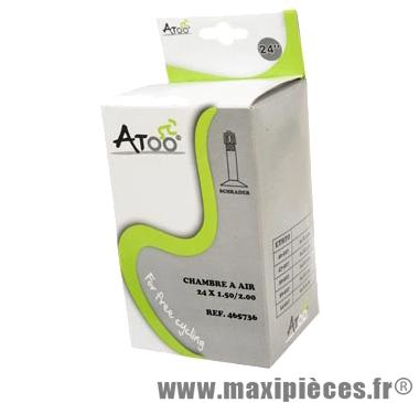 Chambre à air de VTT 24x1.75/2.00 vs marque Atoo - Matériel pour Vélo