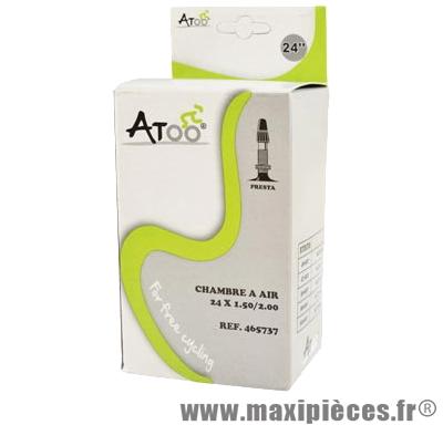 Chambre à air de VTT 24x1.75/2.00 vp marque Atoo - Matériel pour Vélo