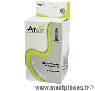 Chambre à air de VTT 26x1.75/2.00 vp marque Atoo - Matériel pour Vélo