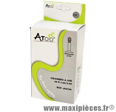 Chambre à air de VTT 26x1.75/2.00 vs valve 45mm marque Atoo - Matériel pour Vélo