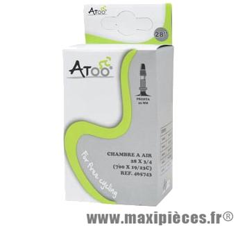 Chambre à air de route 700x20/23 vp valve 43mm marque Atoo - Matériel pour Vélo