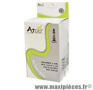Chambre à air de route 700x25/28 vp marque Atoo - Matériel pour Vélo