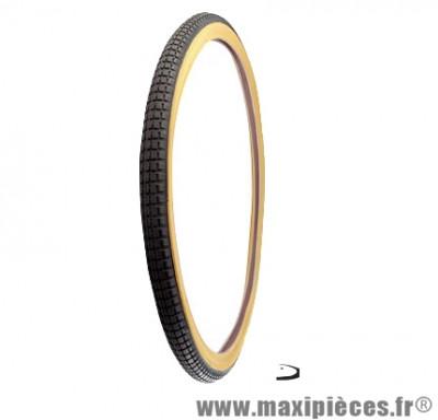 Pneu pour vélo tradi 650x35b noir/beige (26x1 1/2 - 35-584) marque Deli Tire